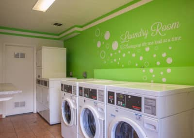 Four Seasons laundry room with Speed Queen laundry machines